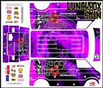 PINK The Gambler Lucky 13 themed vinyl SKIN Kit & Stickers To Fit Tamiya Lunchbox R/C Monster Truck